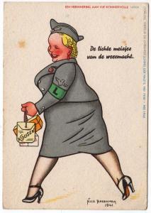 De lichte meisies van de weermacht, by Nico Broekman 1941