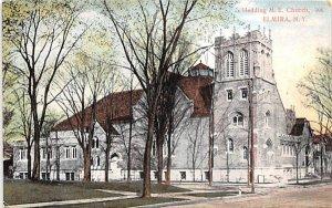 Hedding ME Church Elmira, New York Postcard