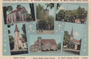 LINDSAY , Ontario, 1930s ; Six Churches
