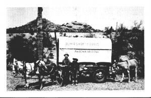 Arizona Phoenix Slim & Shorty Jones With Covered Wagon
