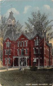 E30/ Salisbury Maryland Md Postcard c1910 Court House Building