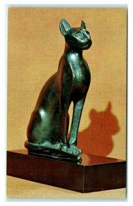Postcard Virginia Museum of Fine Arts, CA-19 Seated Cat, Egyptian c 500 BC N17