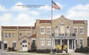 Springfield Missouri~American Legion Hall~Memorial Home~Cannon~1940s Linen PC
