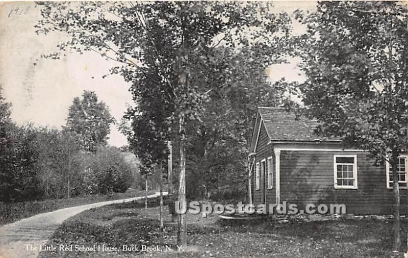 Little Red School House Buck Brook NY 1913