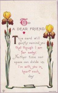 To A Friend Poem, Iris Flowers, PU-1914