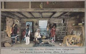 New York Albany Iroquois Indian Exhibit False Face Ceremony State Museum Educ...