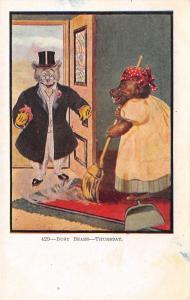 Fantasy~Dressed Busy Bears~Thursday Sweep~Head Rag Housekeeper~Top Coat Hat~#429