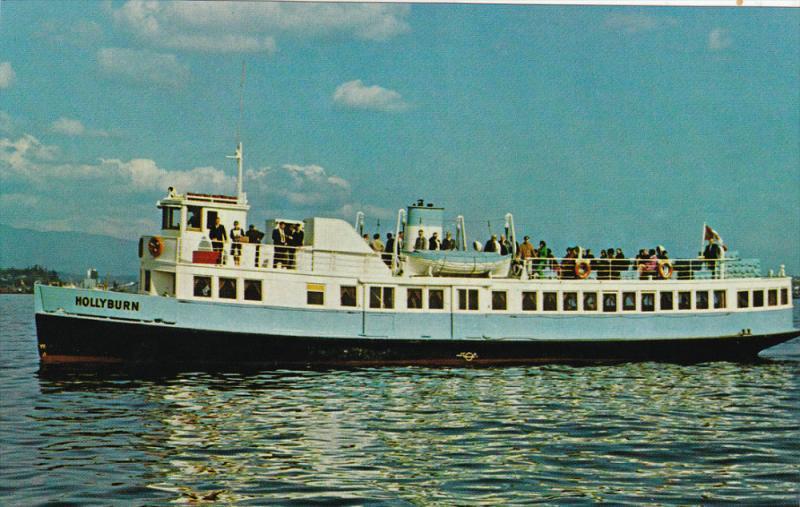 Steam Ferry M.V. HOLLYBURN , Indian Arm , B.C. , Canada , 50-60s