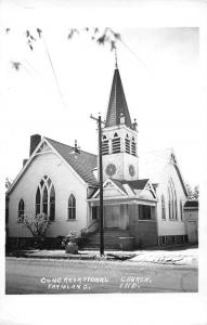 Farmland Indiana Congregational Church Real Photo Antique Postcard J80132