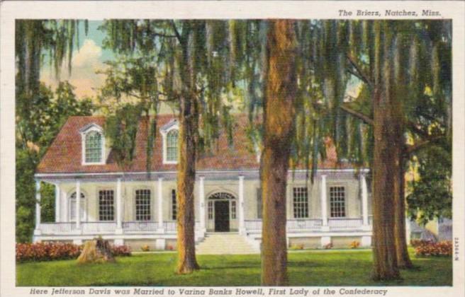 Mississippi Natchez The Briers  Curteich