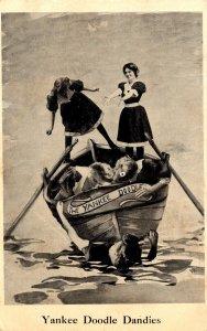 Women With Row Boat Yankee Doodle Dandies