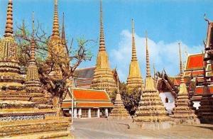 Thailand The Pagodas of the Wad Phra Jetuphon, (Wad Po) Bangkok