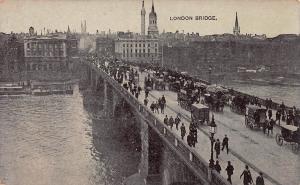 London Bridge, Great Britain, Very Early Postcard, Unused