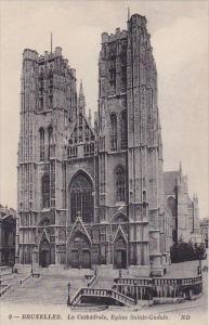Belgium Brussells Bruxelles La Cathedrale Eglis Sainte Gudule