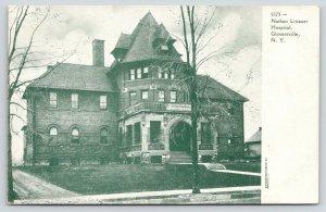 Gloversville New York~Nathan Littauer Hospital Close Up~Gravel Drive~1905 B&W PC