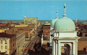 Paducah Kentucky~Broadway Looking East @ Ohio River~1950s Postcard