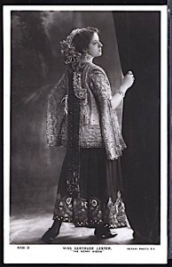 Miss Gertrude Lester English Theater Actress as The Merry Widow RPPC