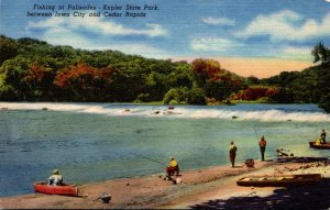 Iowa Fishing At Palisades Kepler State Park Between Iowa City and Cedar Rapid...
