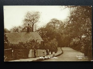 LUTON Why Ax Ye - showing FENCE BEING PAINTED c1921 RP Postcard by A.E. Nicholls