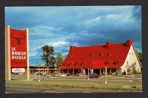 PQ Le Baron Rouge Restaurant Canada Carte Postale STE ANNE BEAUPORT QUEBEC  QC