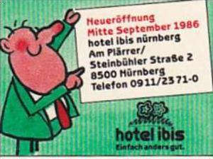 GERMANY NUERNBERG HOTEL IBIS VINTAGE LUGGAGE LABEL