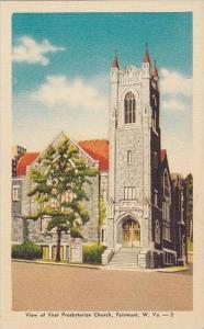 West Virginia Fairmont View Of First Presbyterian Church