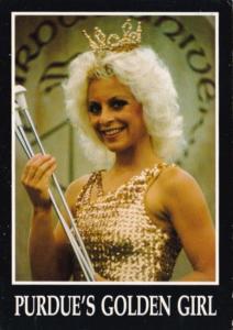 Purdue University Valerie Ludwick Purdue's Golden Girl XIII Queen Of The Bato...