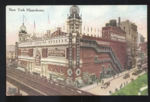 NEW YORK CITY NY HIPPODROME THEATRE DOWNTOWN ANTIQUE VINTAGE POSTCARD