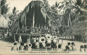 PC CPA PAPUA NEW GUINEA, MEKEO, PREPARATION FOR THE DANCE, Postcard (b19786)
