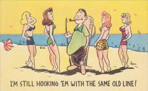 AS: Fisheman smoking a pipe surrounded by lovely ladies at the beach, Paris, ...