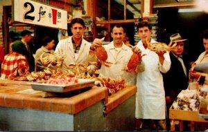 California San Francisco Fisherman's Wharf Crab Stall 1962