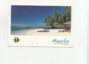 BF28086 plage de l ile aux cerfs  mauritius ile de maurice  front/back image