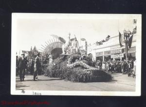 RPPC PASADENA CALIFORNIA 1943 TOURNAMENT OF ROSES PARADE