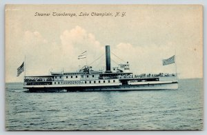 Lake Champlain NY~Crowded Excursion Steamer Ticonderoga~Arthur Livingston c1908