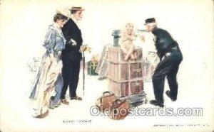Artist Signed Howard Chandler Christy, Excess Baggage Unused