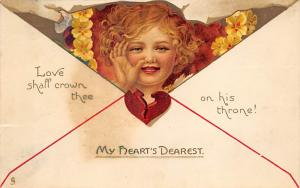 Damaged Valentines Day Postcard Raphael Tucks & Sons Publishing 1909