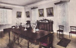 Showing The Dining Room With Family Portraits The Hermitage Nashville Tenness...