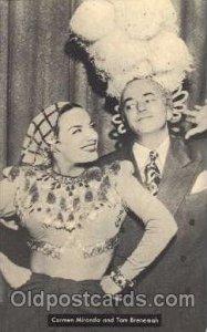 Carmen Miranda & Tom Breneman Actress / Actor Postcard Post Card Old Vintage ...