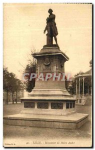 Old Postcard Lille Monument Mayor Andre