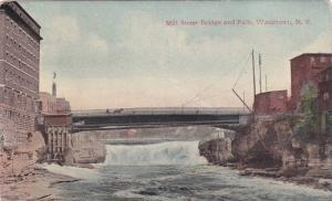 Mill Street Bridge and Falls, Watertown, New York, PU-1920