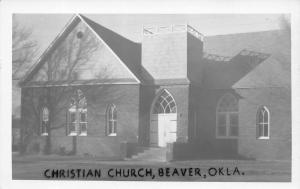 Beaver Oklahoma~Christian Church~1950s Real Photo Postcard~RPPC