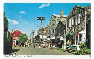 MA Bearskin Neck Rockport Cape Ann Street Shops Vntg Jellison Photo Postcard