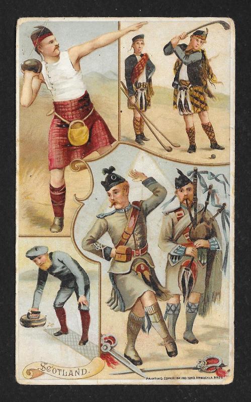 VICTORIAN TRADE CARDS Arbuckle Coffee Alaska Japan Canada & Scotland