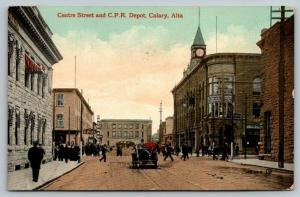 Calgary AB Cashman~Grill~11:40 AM @ CPR Railroad Depot~Crandell & Nat'l Ins~1910