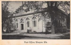 Waupun Wisconsin Post Office Exterior Street View Antique Postcard K19293