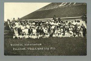 Palacios TEXAS RP 1913 BUCKEYE ASSOCIATION Picnic OHIO DAY nr Port Lavaca