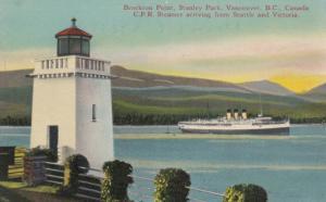 Stanley Park , B.C., Canada, 1930s ; Lighthouse