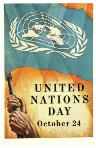 United Nations Day Poster Postcard October 24 1953