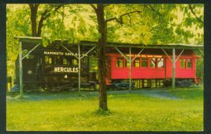 Hercules Mammoth CAVE TRAIN Glasgow Junction National Park Railroad Postcard
