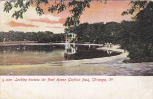 Looking Towards The Boat House, Garfield Park, CHICAGO, Illinois, 1900-1910s
